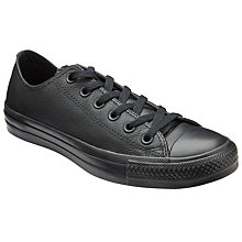 Buy Converse Chuck Taylor All Star Ox Leather Trainers, Black Online at johnlewis.com