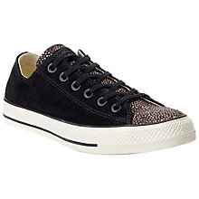 Buy Converse Chuck Taylor All Star Ox Print Trainers, Black Online at johnlewis.com