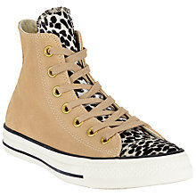 Buy Converse Chuck Taylor All Star Animal Print Hi-Top Trainers, Animal Print Online at johnlewis.com