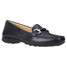 Buy Geox Euro Buckle Slip On Loafers, Navy Online at johnlewis.com