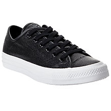 Buy Converse Chuck Taylor All Star Ox Leather Trainers, Black/White Online at johnlewis.com