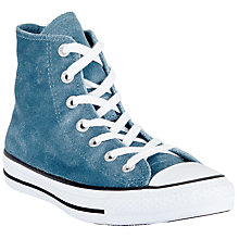 Buy Converse Chuck Taylor All Star Velvet Hi-Top Trainers, Teal Online at johnlewis.com