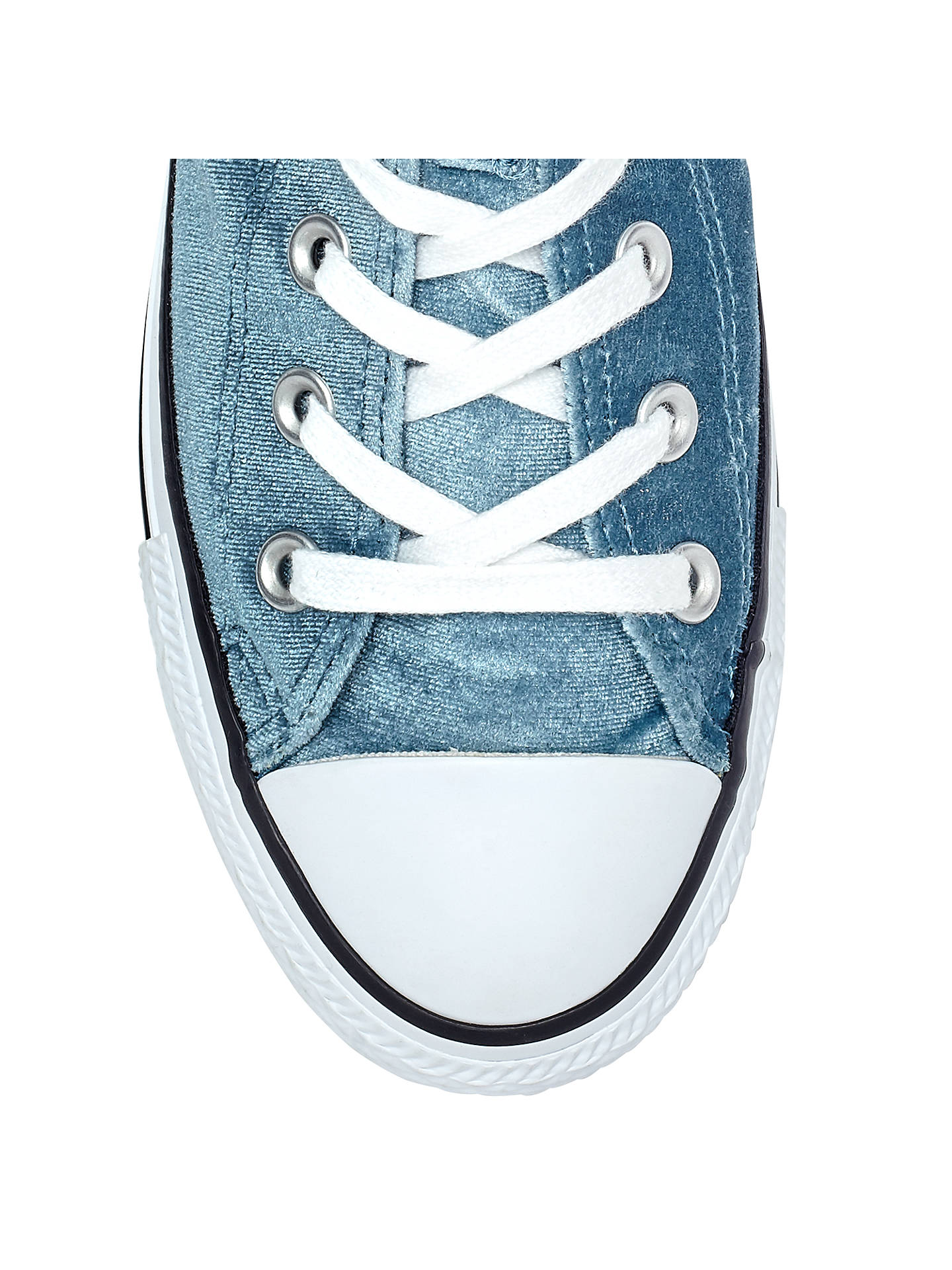 leninismo Culo Elástico  Converse Chuck Taylor All Star Velvet Hi-Top Trainers, Teal at John Lewis &  Partners