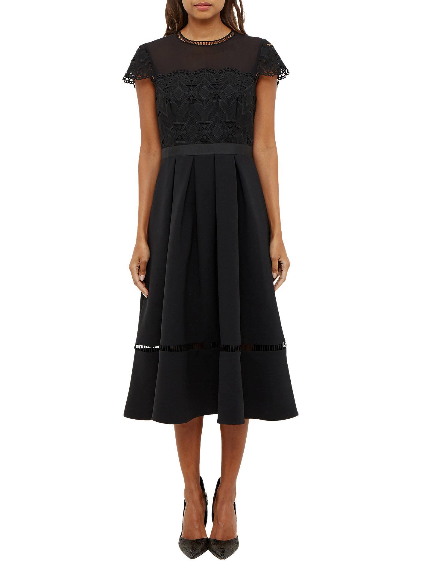 2964036fdf66 Buy Ted Baker Frizay Lace Bodice Full Midi Dress