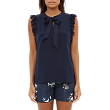 Buy Ted Baker Eene Bow Tie Silk Frilled Top Online at johnlewis.com