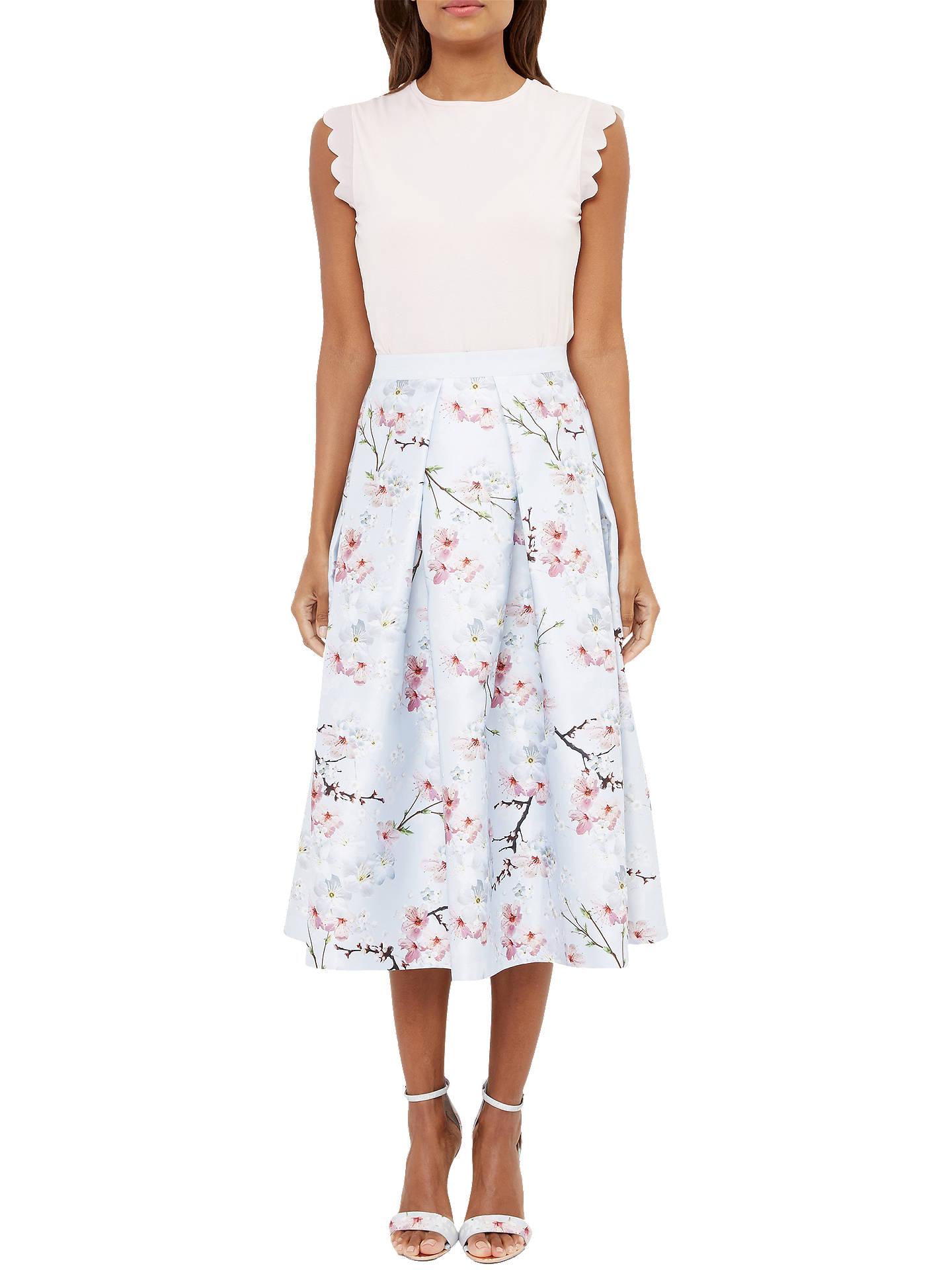0ffbe2508e7bfc Buy Ted Baker Pallye Oriental Blossom Midi A-Line Skirt