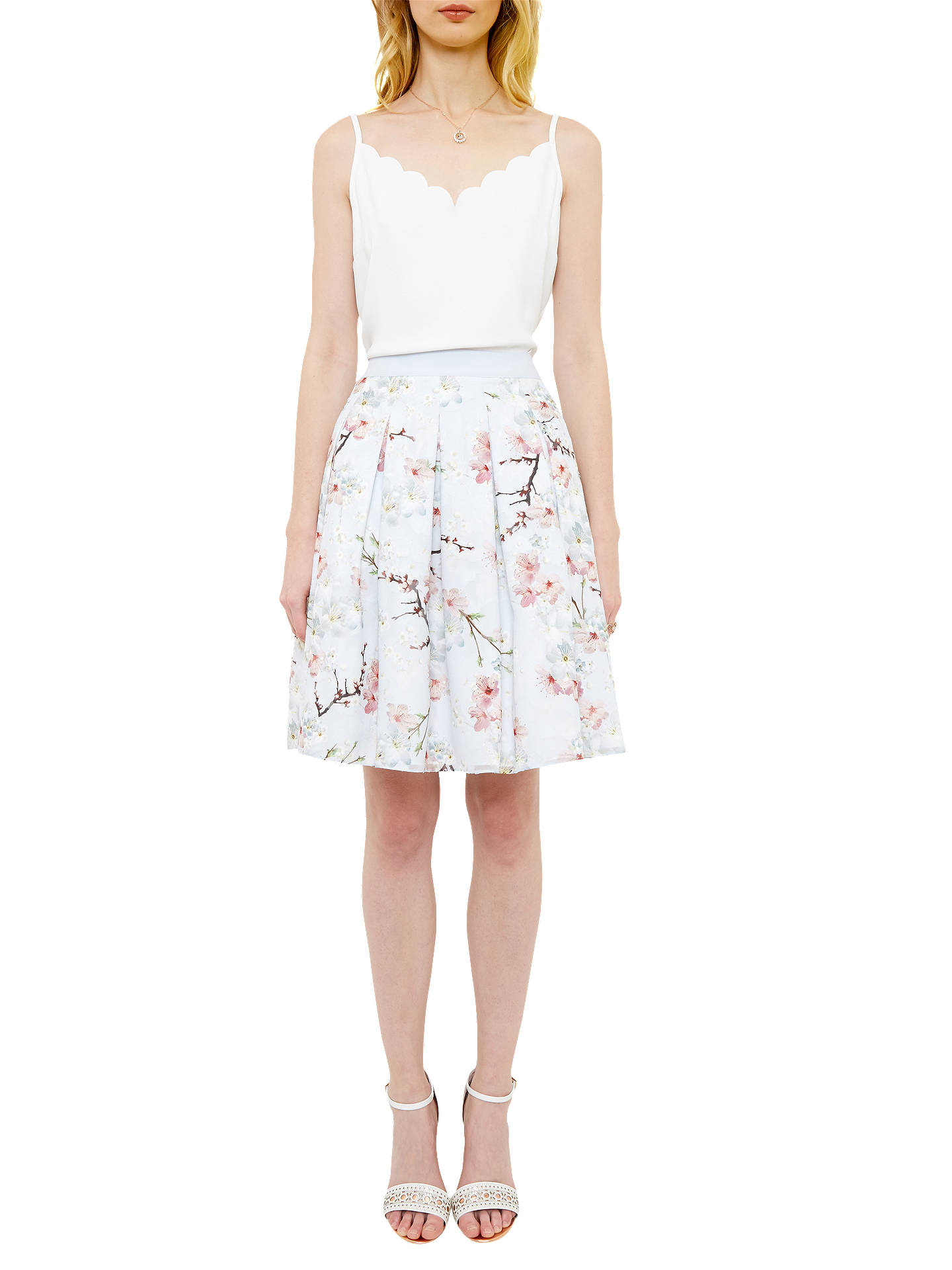 54f3e430215 Buy Ted Baker Tillye Oriental Blossom Pleated Skirt