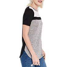 Buy Oasis Colour Block Yoke T-Shirt, Multi Online at johnlewis.com