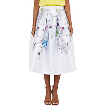 Buy Ted Baker Petale Passion Flower Full Skirt, Ivory Online at johnlewis.com