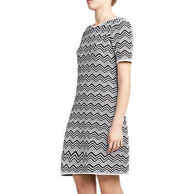 Winser London Cotton Chevron Dress, Black