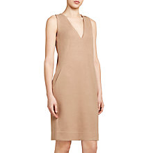 Buy Winser London Crepe Jersey Shift Dress, Camel Online at johnlewis.com