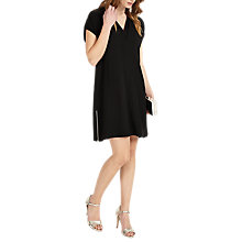 Buy Phase Eight Vivian V-Neck Tunic Dress, Black Online at johnlewis.com