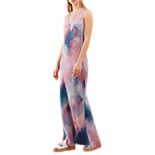 Buy Jigsaw Spirograph Print Silk Maxi Dress, Pink Ash Online at johnlewis.com