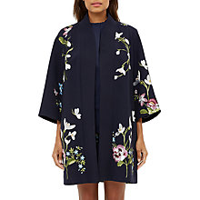 Buy Ted Baker Denuka Spring Meadow Kimono Jacket, Dark Blue Online at johnlewis.com