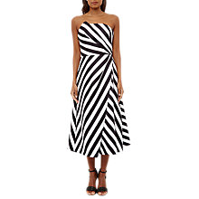 Buy Ted Baker Frieda Strapless Striped Dress, Black Online at johnlewis.com
