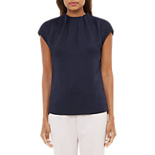 Buy Ted Baker Landa Crepe Gathered High Neck Top Online at johnlewis.com