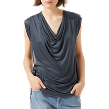 Buy Jigsaw Sleeveless Cowl Neck Top, Bay Leaf Online at johnlewis.com