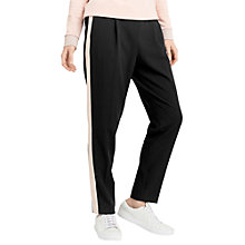 Buy Oasis Side Stripe Trousers, Black/White Online at johnlewis.com