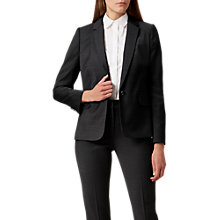 Buy Hobbs Katy Jacket, Charcoal Online at johnlewis.com