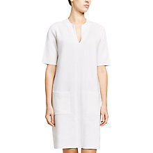 Buy Winser London Milano Cotton Shift Dress, Soft White Online at johnlewis.com