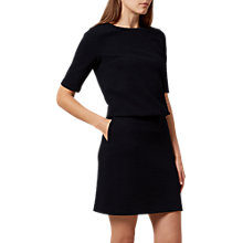 Buy Hobbs Piper Textured Dress, Navy Online at johnlewis.com