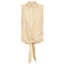 Buy Hobbs Thora Gingham Shirt, Check Online at johnlewis.com