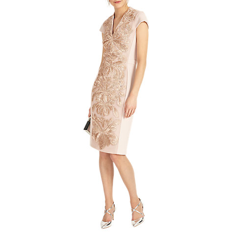 Buy Phase Eight Laurie Embroidered Dress, Soft Pink Online at johnlewis.com