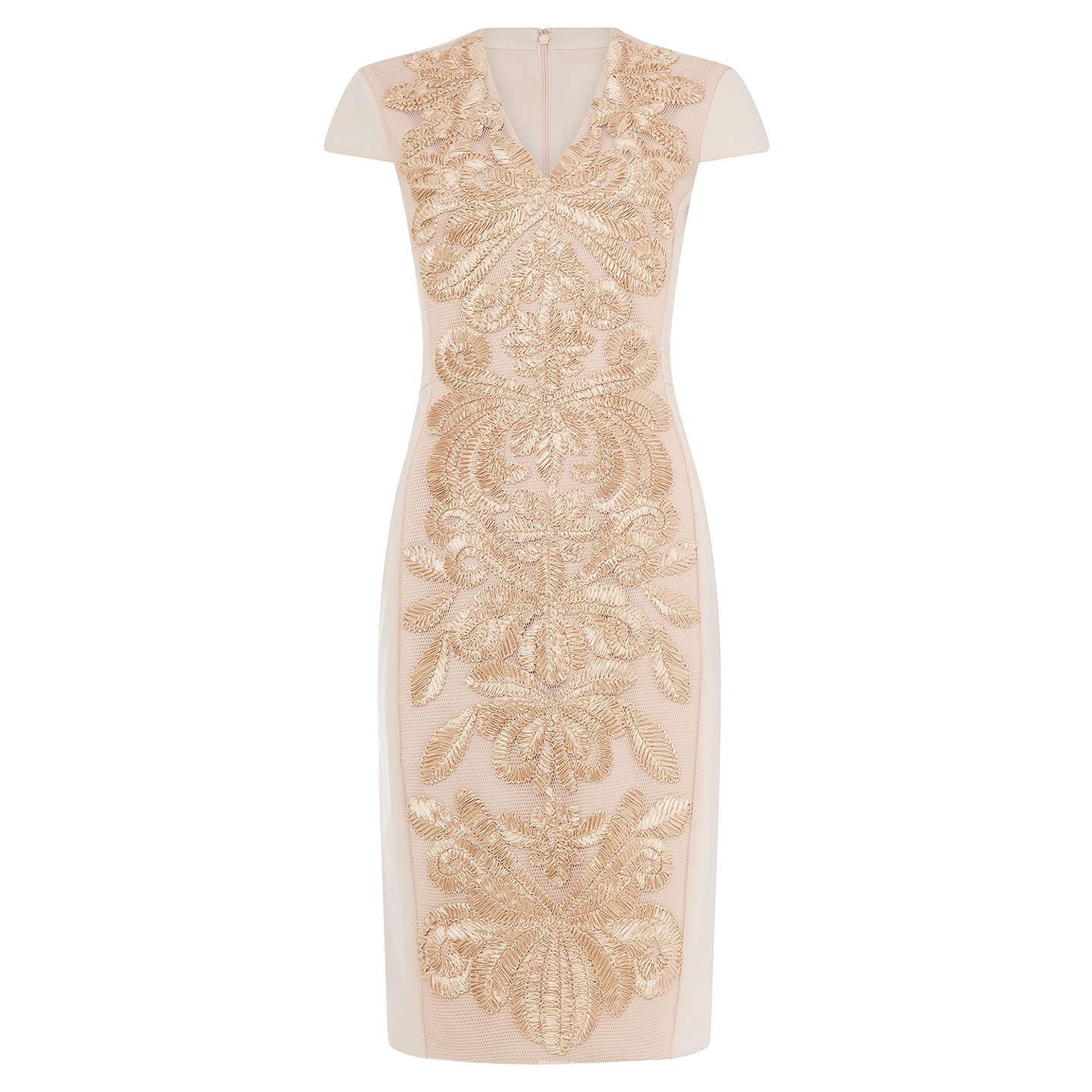BuyPhase Eight Laurie Embroidered Dress, Soft Pink, 8 Online at johnlewis.com