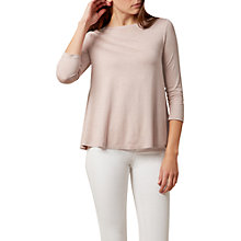 Buy Hobbs Lulu Swing Top, Pink Marl Online at johnlewis.com