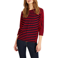 Buy Phase Eight Carris Stripe Top, Navy/Red Online at johnlewis.com