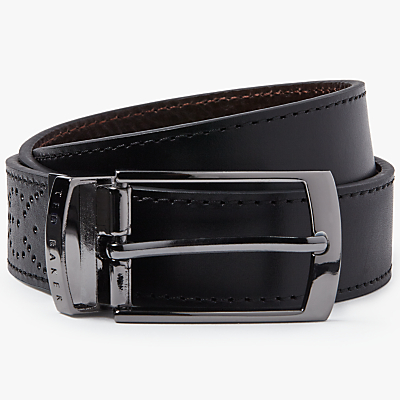 Ted Baker Boxwood Brogue Leather Belt