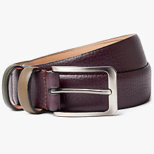 Buy Ted Baker Shrubs Two Tone Leather Belt, Purple Online at johnlewis.com