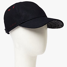 Buy Ted Baker Boiled Wool Baseball Cap, Navy Online at johnlewis.com