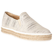Buy L.K. Bennett Esther Flatform Espadrilles, Cream Online at johnlewis.com
