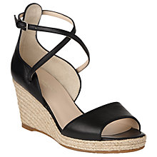 Buy L.K. Bennett Nellie Wedge Heeled Sandals, Black Online at johnlewis.com