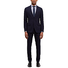 Buy Jaeger Wool Shadow Check Slim Fit Suit Trousers, Navy Online at johnlewis.com