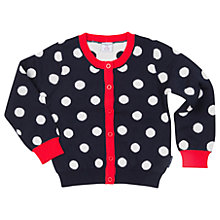 Buy Polarn O. Pyret Children's Polka Dot Cardigan, Blue Online at johnlewis.com