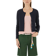 Buy Marc Cain Fine Knit Cardigan, Midnight Blue Online at johnlewis.com