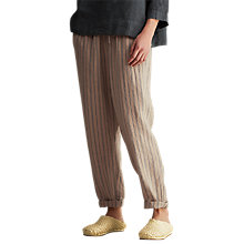 Buy Toast Stripe Linen Trousers, Cord/Chambray Blue Online at johnlewis.com