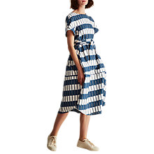 Buy Toast Provence Ikat Dress, Blue/White Online at johnlewis.com
