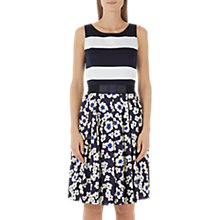 Buy Marc Cain Floral Stripe Printed Dress, Midnight Blue Online at johnlewis.com