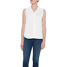 Buy NYDJ Vera Garment Dye Linen Top, Optic White Online at johnlewis.com