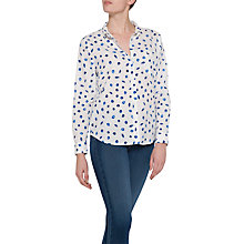 Buy NYDJ Printed Linen Cotton Shirt, Summer Sea Shells Online at johnlewis.com