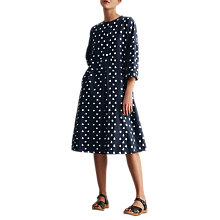 Buy Toast Ikat Cotton Smock Dress, Navy Online at johnlewis.com