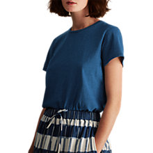 Buy Toast Washed Slubby Cotton T-Shirt, Indigo Online at johnlewis.com
