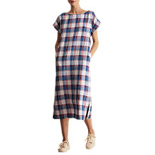 Buy Toast Madras Check Dress, Mid Blue/Multi Online at johnlewis.com