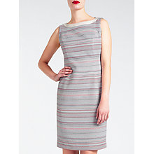Buy Bruce by Bruce Oldfield Mixed Tweed Dress, Coral/Grey Online at johnlewis.com