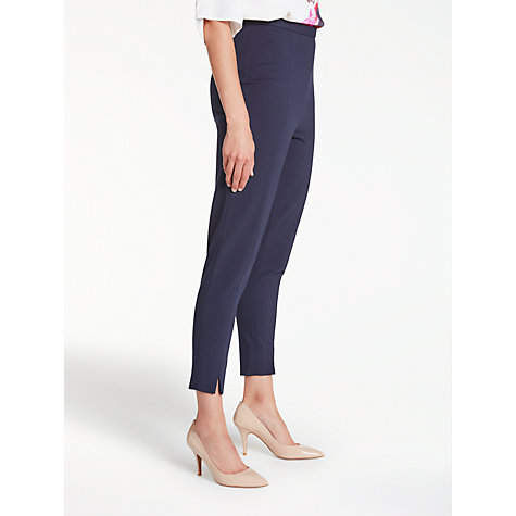 Buy Bruce by Bruce Oldfield Slim Ponte Trousers, Navy Online at johnlewis.com