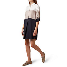 Buy Hobbs Marci Tunic Dress, Navy/Camel Online at johnlewis.com