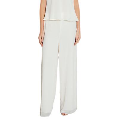 Product photo of Gina bacconi chiffon layered trousers with slits